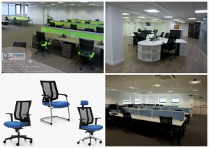 Negus Office Chairs, I bench desking system and Pure Segments
