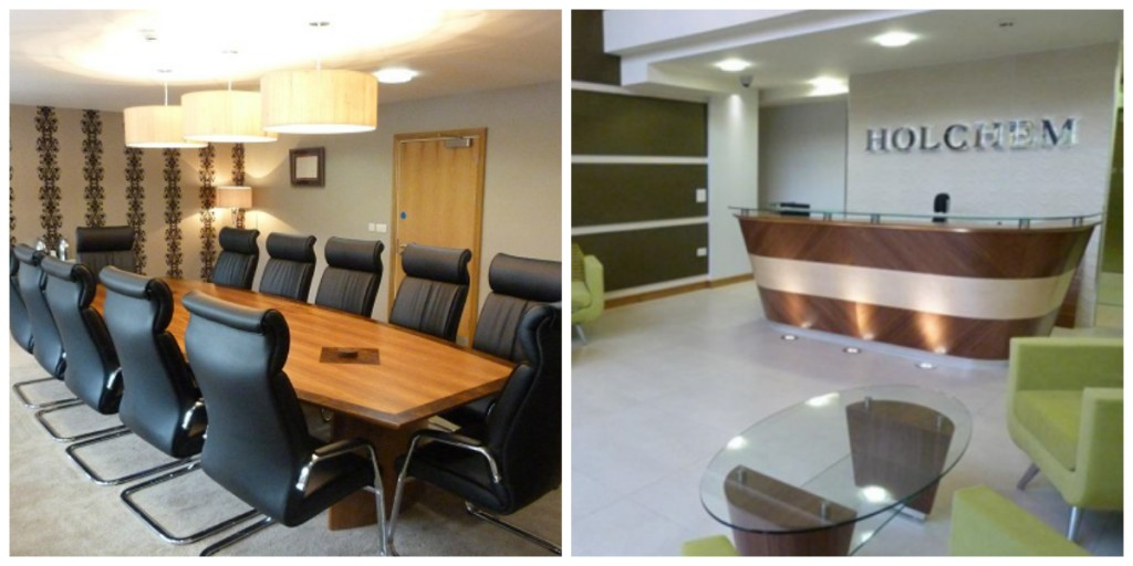Holchem board room and reception collage