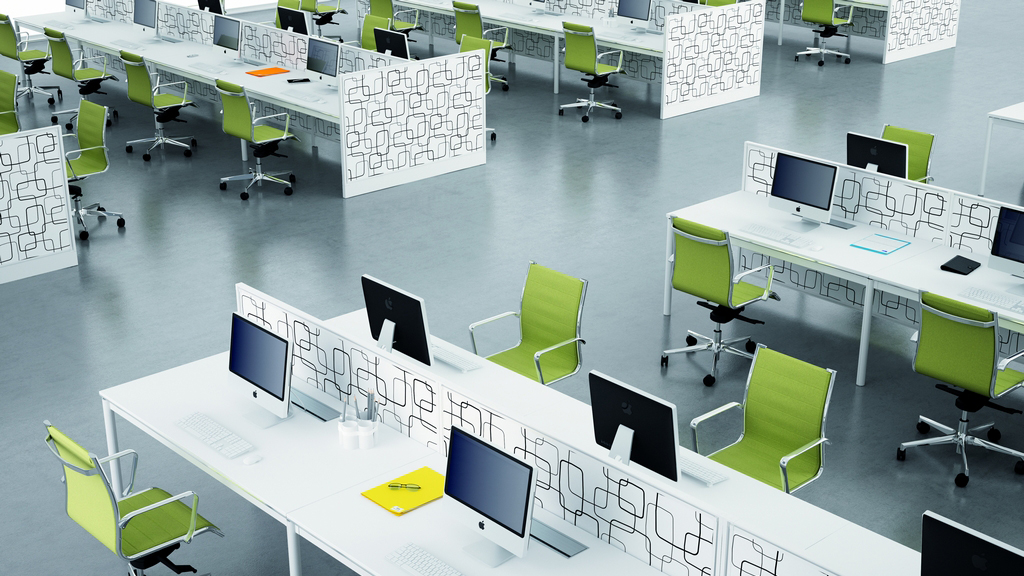 Bench Desks - Office Desks - Acrylic Screens