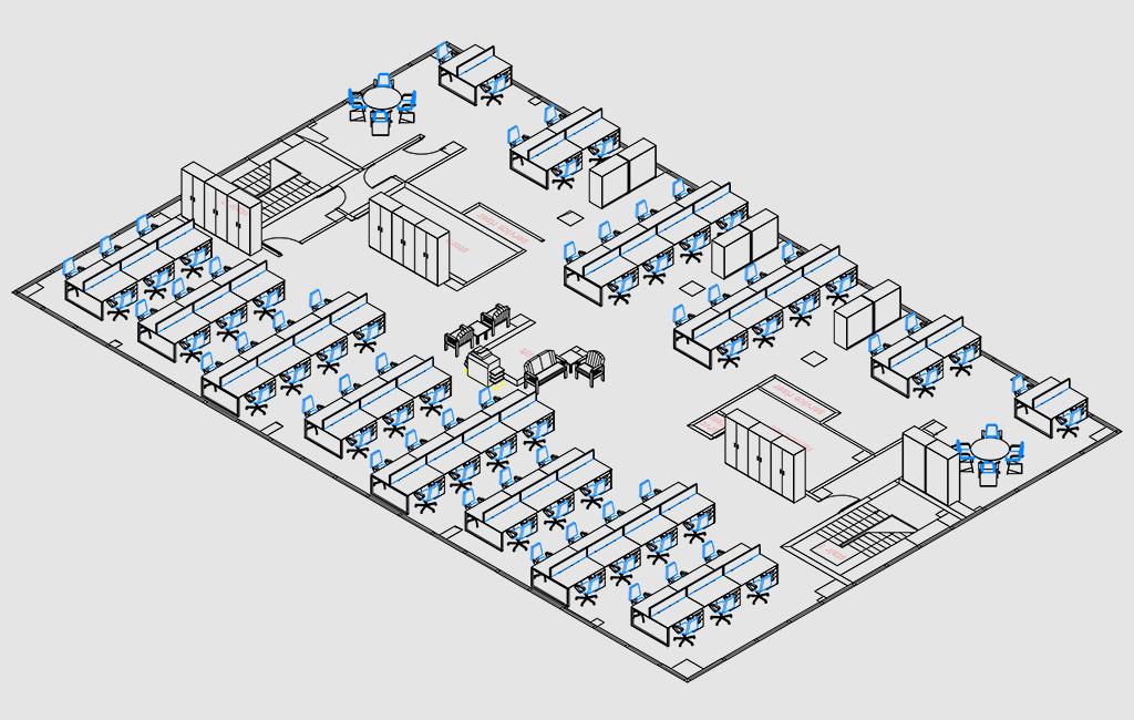 Space Planning Services : Office designer interior design planning