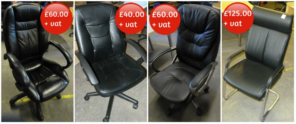 Used Leather Office Seating