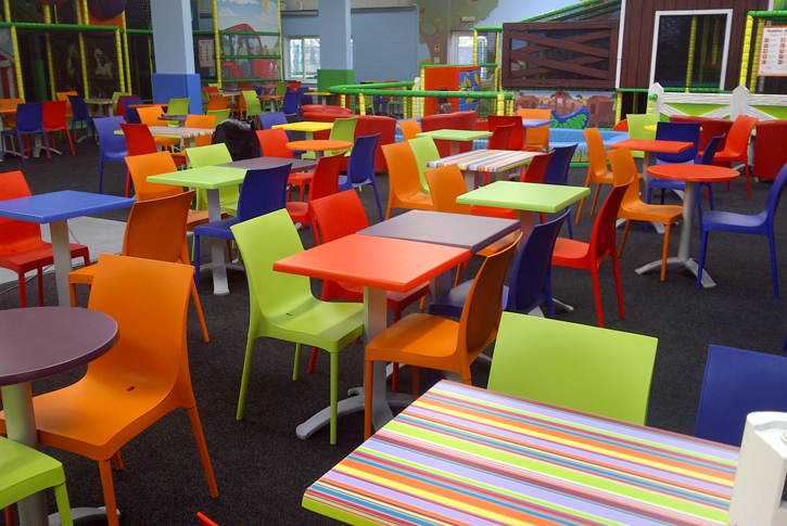 Primary school canteen furniture, colourful furniture for schools