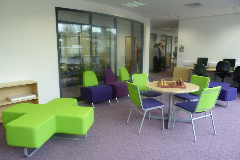 Cris Cross, Mood and The Galaxy Funky Seating Range. Seats for reception area, chairs for break rooms. Sofas in reception