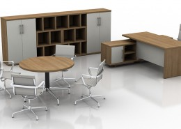 Santiago cherry cirrus executive office - Executive Desks - Office Desks - Contemporary Desks