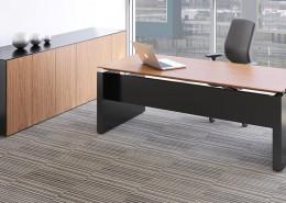 Wanut rectangular fulcrum executive desk - Executive Desks - Office Desks - Contemporary Desks