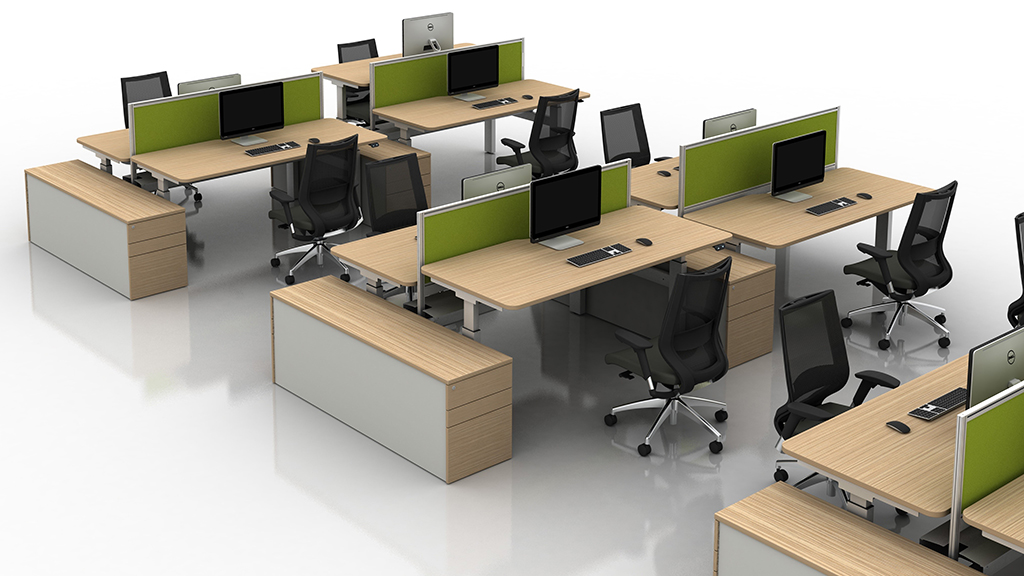 Move Desk - Height Adjustable Desks - Office Desks - Contemporary Desks - Bench Desks