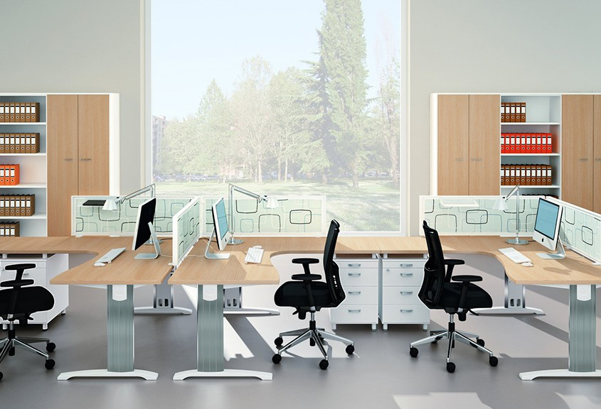 Quadrifoglio Desk - Office Desks - Contemporary Desks - Bench Desks