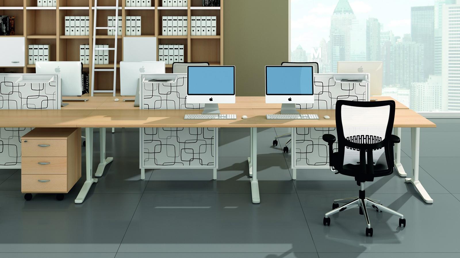 Mega Desk - Office Desks - Contemporary Desks - Bench Desks