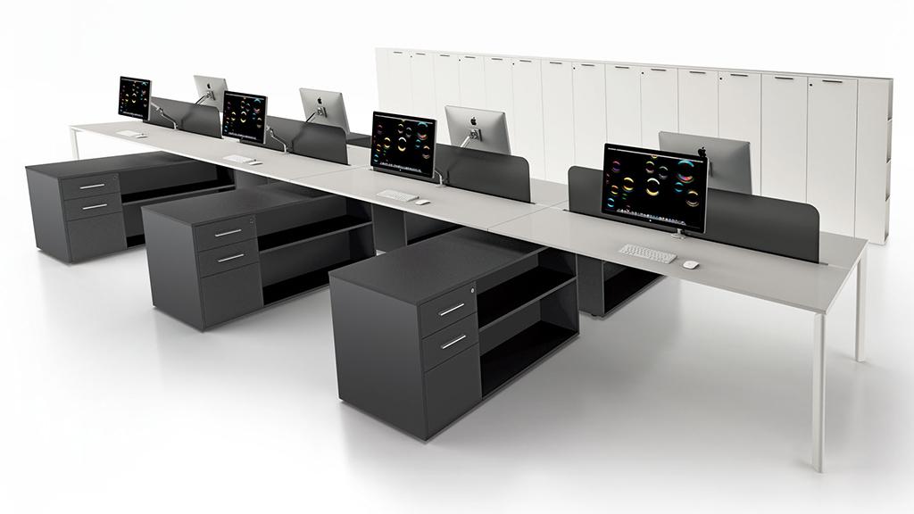 YO Desk - Office Desks - Contemporary Desks - Bench Desks