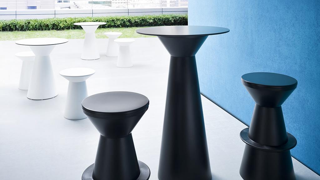 Roller Stool - Bistro Tables - Breakout Furniture