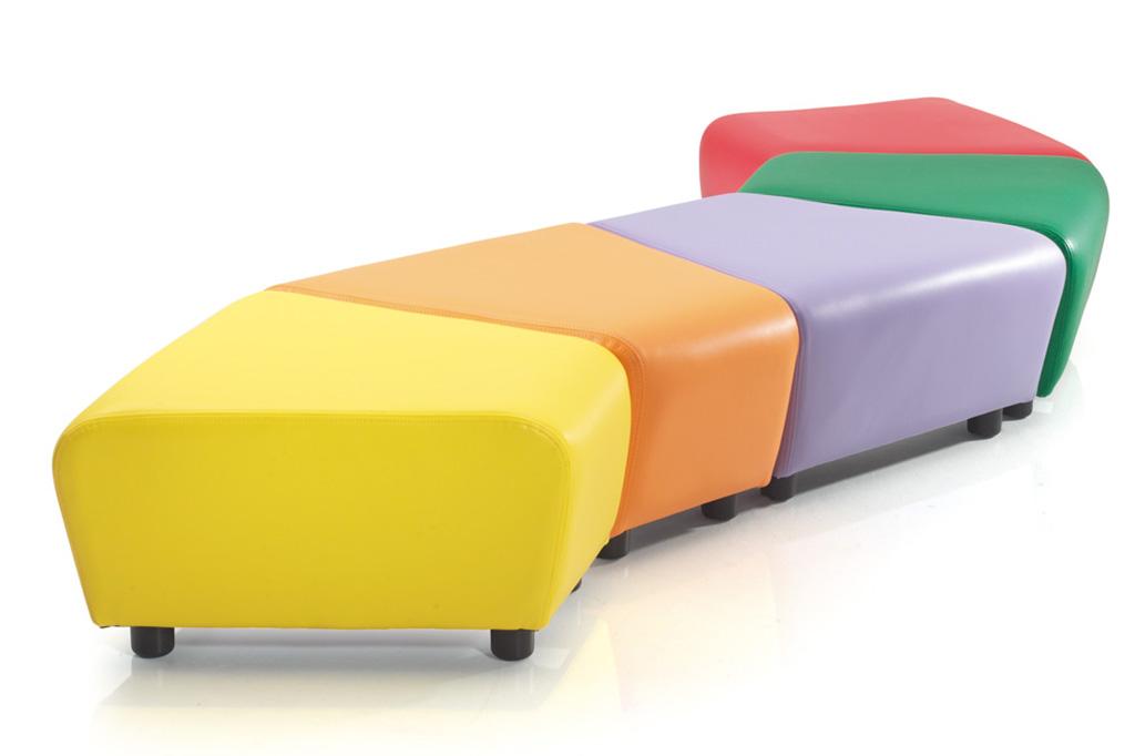 Modular Classroom Furniture ~ Zigzag educational soft seating │ school chairs