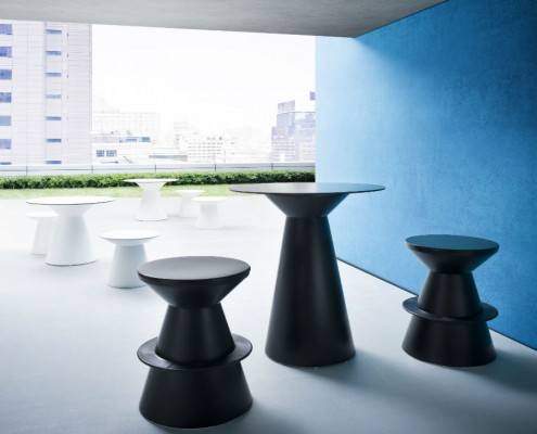 Roller Stool - Stools & Poseur Tables - Breakout Furniture