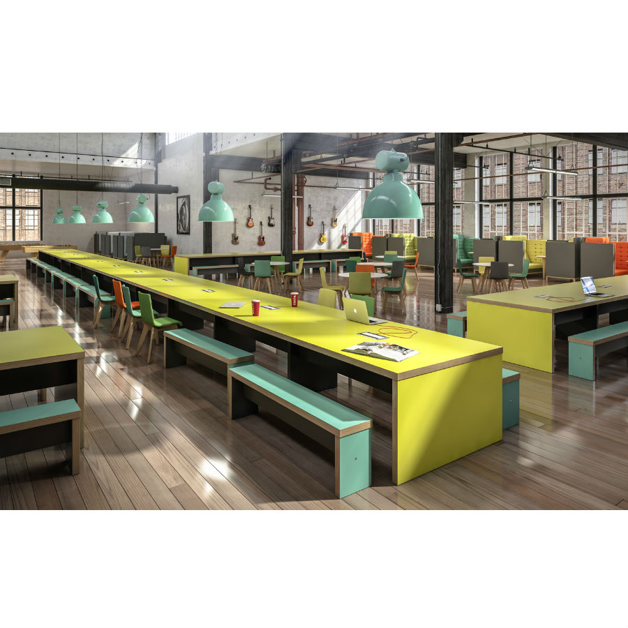 Wagamama Bench - Stools & Poseur Tables - Breakout Furniture
