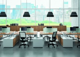 Officity X4 Desk - Bench Desks - Office Desks