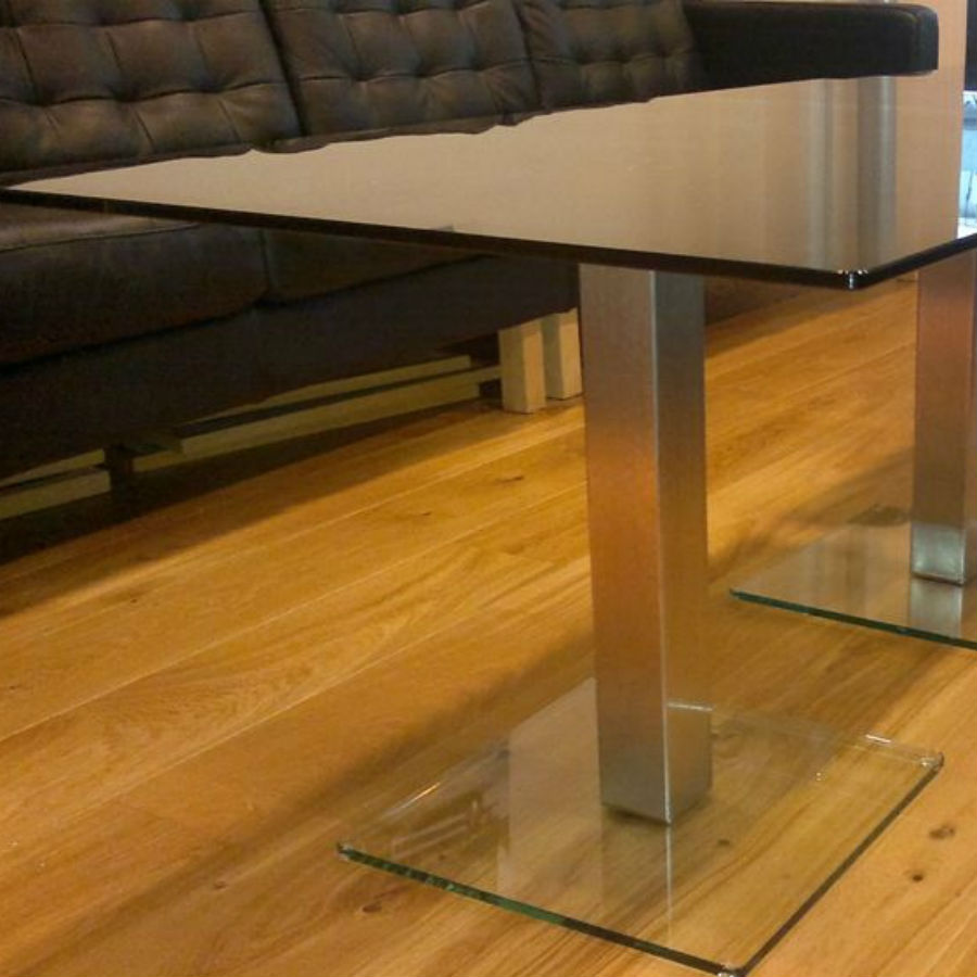 Dual Knee Coffee Table - Office Coffee Tables - Breakout Furniture