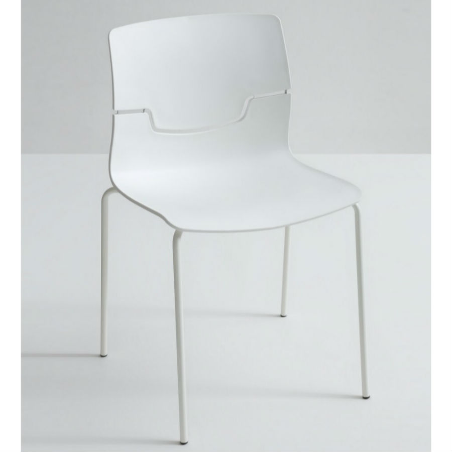 Image of a white slot breakout chair