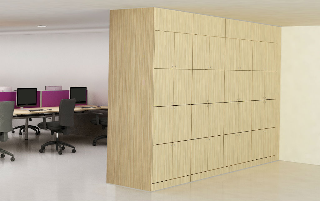 Storage Wall - Wood Storage - Office Storage