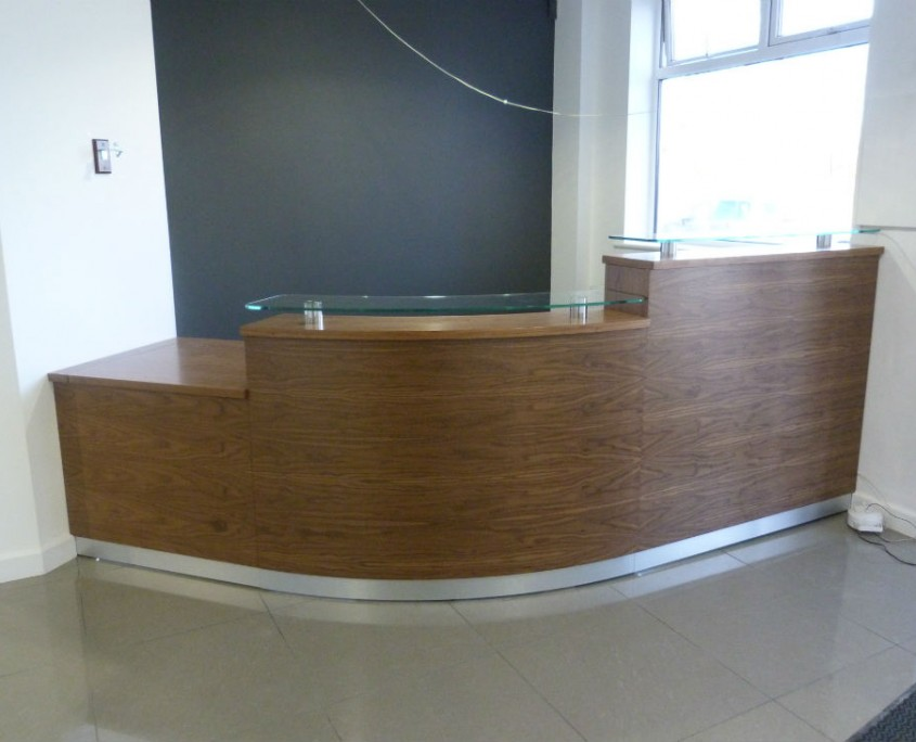 Colman Milne Tula Reception Counter in Walnut