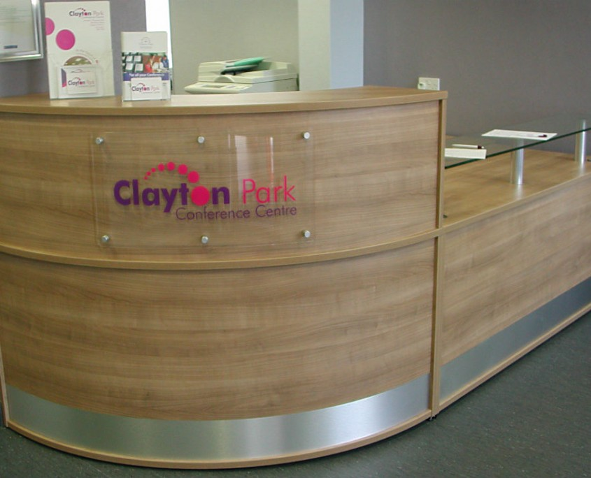 Clayton Park Conference Centre Receptive Reception Counter from the Receptive Range