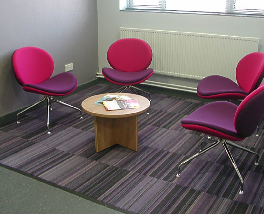 Clayton Park Conference Centre Reception Seating Area with Giggle Chairs &