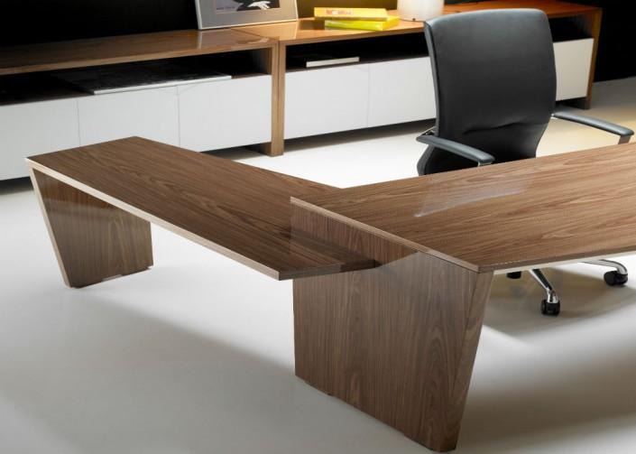 Origami Walnut Veneer Executive Desk