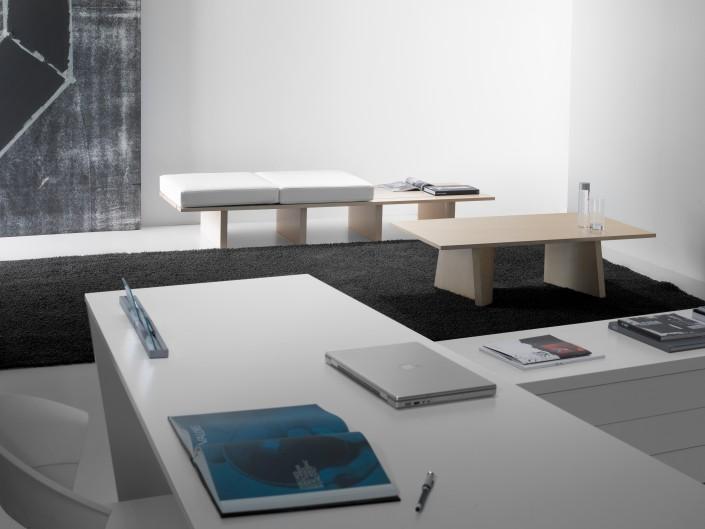 Guialmi Origami Desk White Laquer