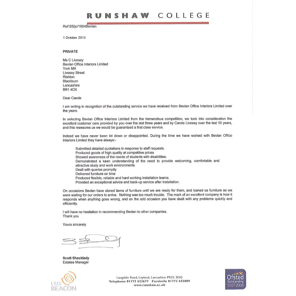 Runshaw College Testimonial WEBSITE