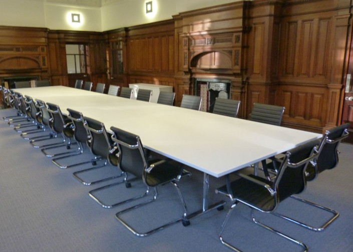 Chamber of Commerce in Manchester Long Meeting Room Table