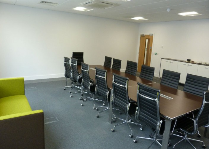 Warrington Long Boardroom Table Area