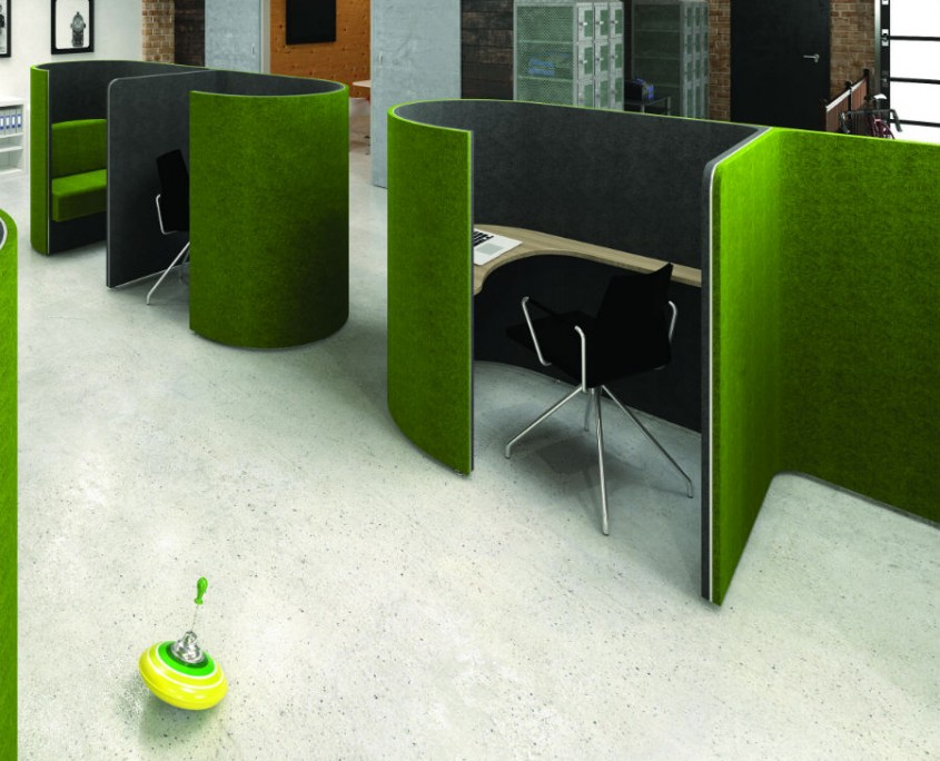 DEN Curve - Acoustic Pods - Office Screens
