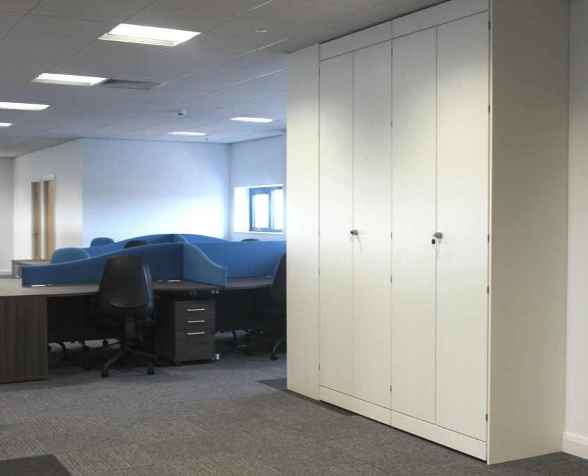 Wood Storage - Storage Wall - Office Furniture Delivery & Installation