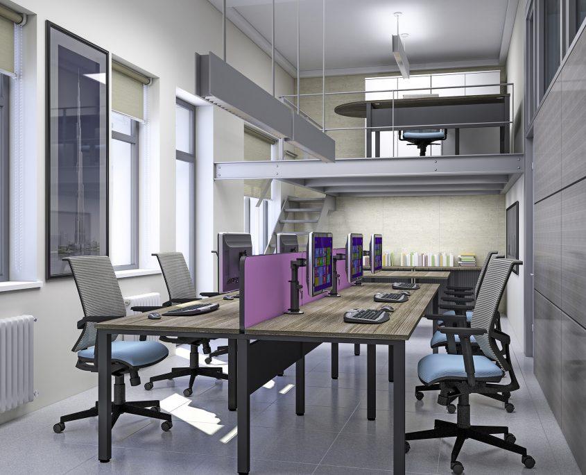 Pure Bench Desks - Bench Desks - Office Desks