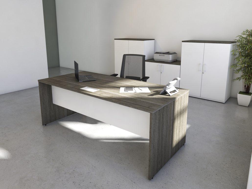 executive greenite desk cullmandc white l