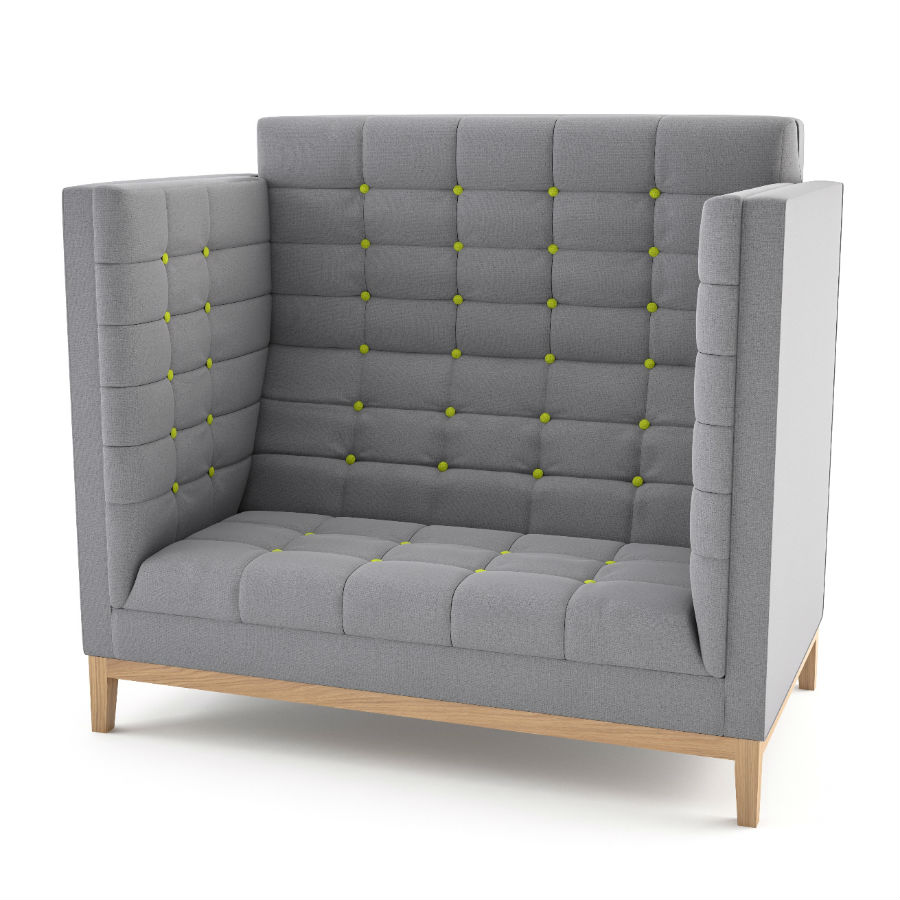 Jig High Back Settee - Breakout Seating - Breakout Furniture