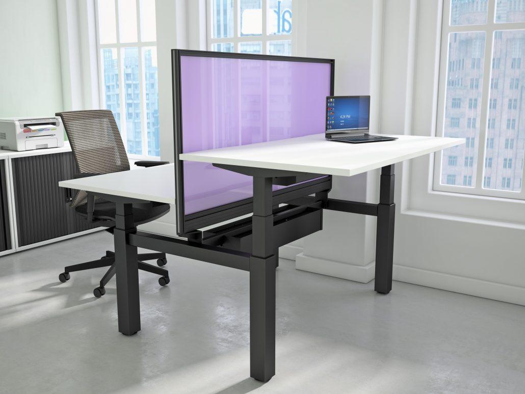 Height adjustable desk freedom height adjustable desks office desks - Tall office desk ...