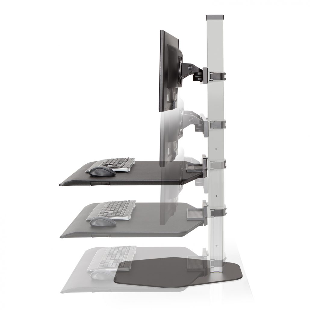 Sit Stand Workstation - Height Adjustable Desks - Office Accesories