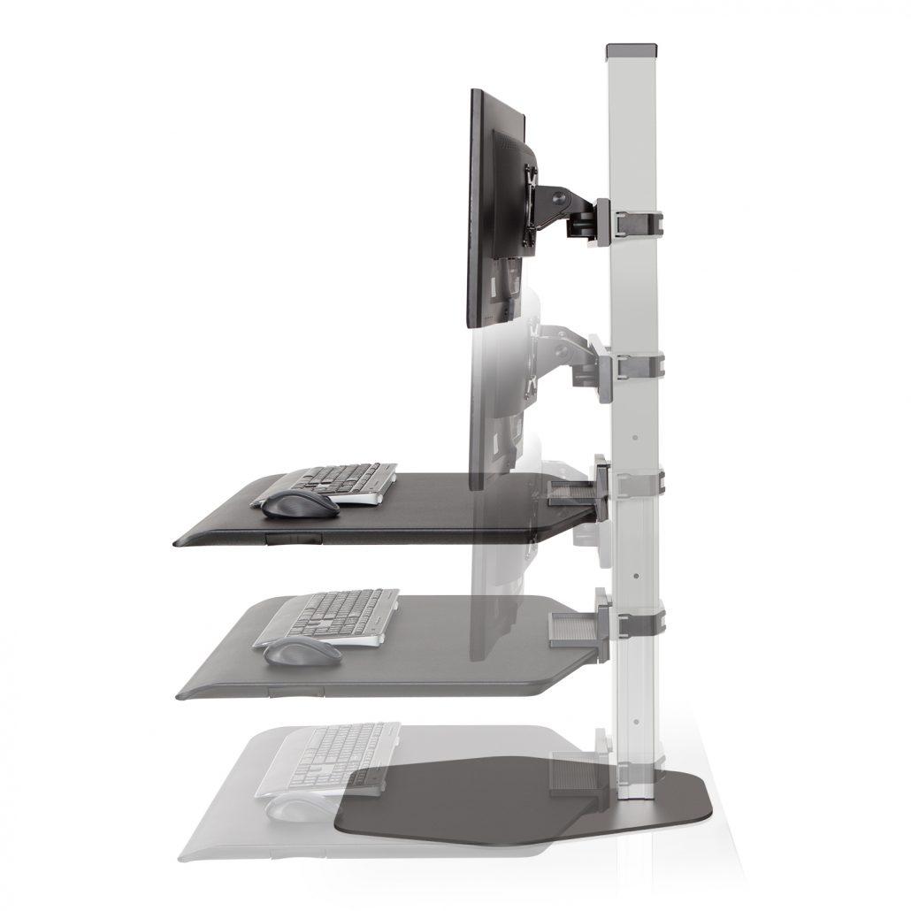 Sit Stand Workstation - Height Adjustable Desks - Office Accesories