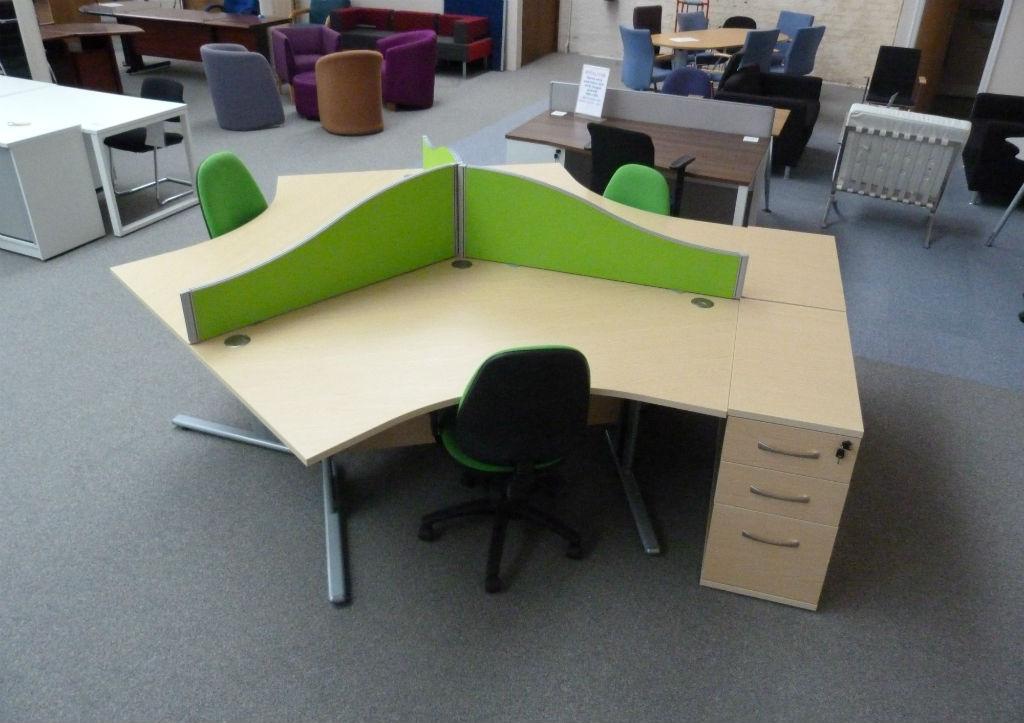 Three Way Call Centre Desk - Office Desk - Office Desks - Office Furniture