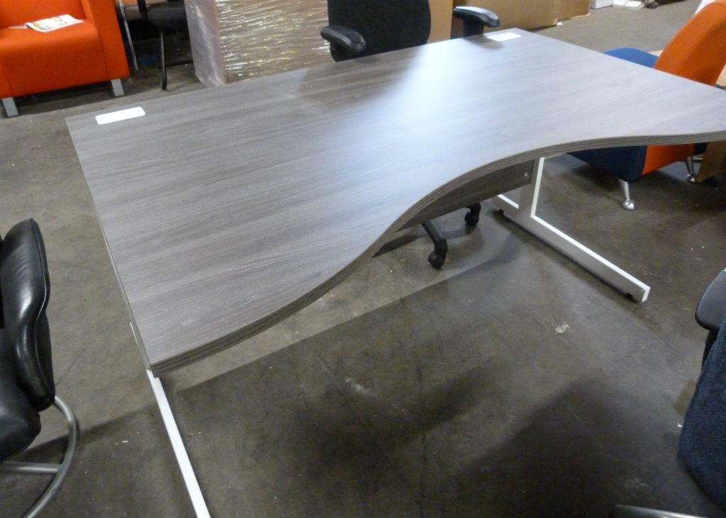 Double Wave Desk - Anthracite Desks - Office Desk - Office Desks
