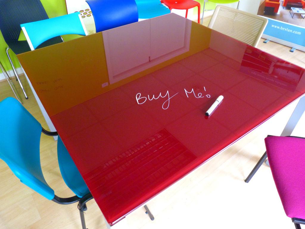 Red Glass Meeting Table - Meeting Table - Meeting Room Furniture