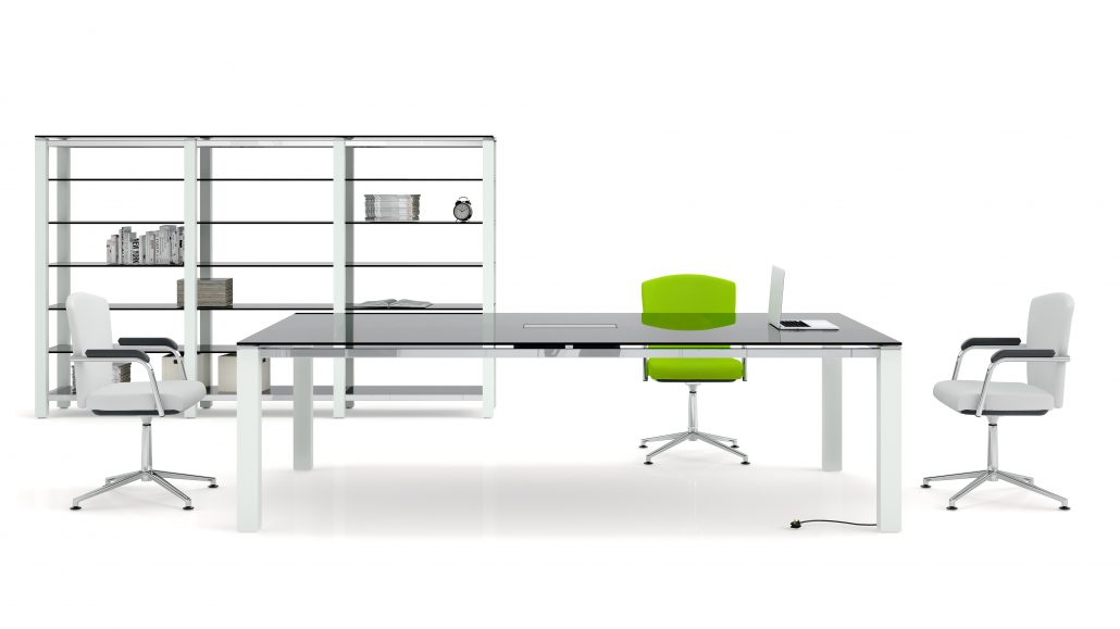 Oxford Black Glass - Oxford Tables - Meeting Tables