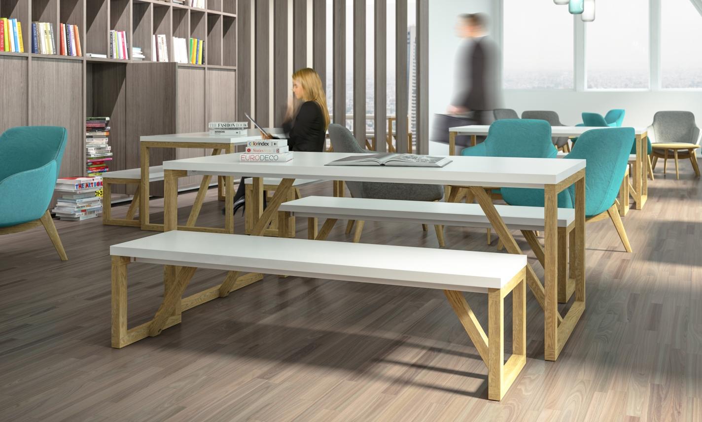 Breakout Furniture - Block Wood - Wagamama Benching