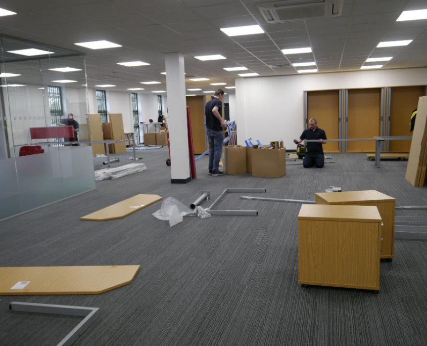Office Refurbishment - Office Delivery & Installation