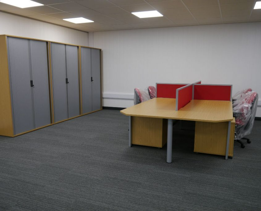 Office Refurbishment - Office Desks - Bench Desks - Veta Bench Desks - Office Storage