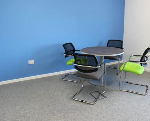 Office Space Planning - Mesh back Meeting Chairs - Meeting Tables