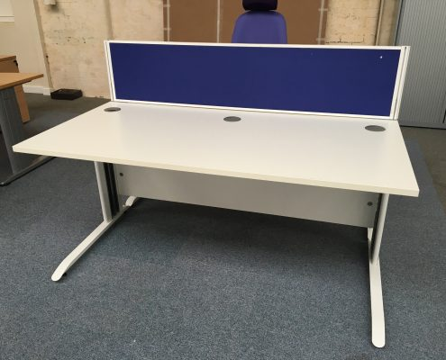 White Office Desk - Used Office Furniture Lancashire North West UK