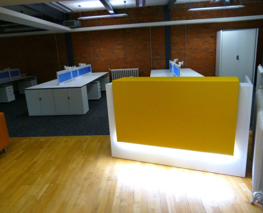 Buckland Harvester Office - Bench Desks - Reception Desk - Reception Area - Reception Counter