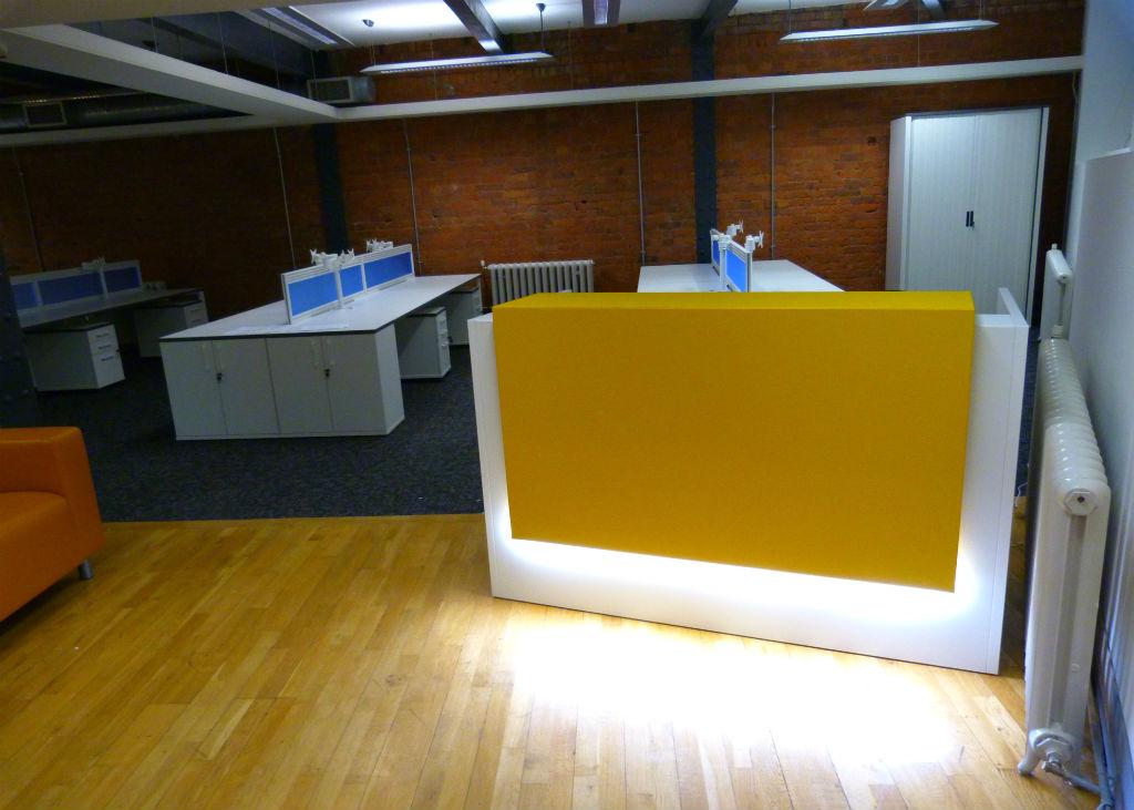 Buckland Harvester Office - Bench Desks - Reception Desk - Reception Area - Reception Counter