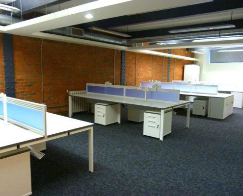 Buckland Harvester Office - Bench Desks - Bench Desk Storage - Desktop Screens - Monitor Arms