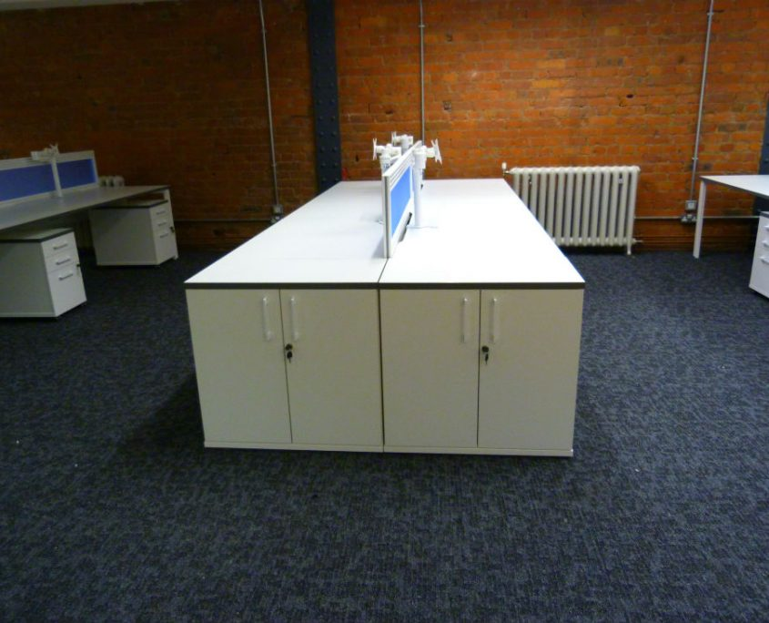Buckland Harvester Office - Bench Desks - Bench Desk Storage - Desktop Screens - Monitor Arms